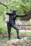 Estátua de Robin Hood fotos de stock