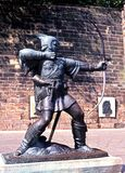 Estátua de Robin Hood, Nottingham. Fotografia de Stock Royalty Free