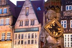 Estátua de Roland em Brema, Alemanha. Foto de Stock Royalty Free