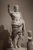 Estátua de Roman Emperor Augustus imagens de stock