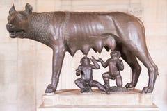 Estátua de Romulus e de remus Fotos de Stock Royalty Free