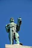 Estátua de s Pobednik do ‡ do troviÄ do ¡ de Ivan MeÅ 'do vencedor na Sérvia da área da fortaleza de Belgrado Foto de Stock