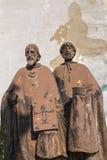 Estátua de Saint Cyril e Methodius fotos de stock royalty free