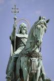 Estátua de Saint stephen, budapest Fotografia de Stock Royalty Free