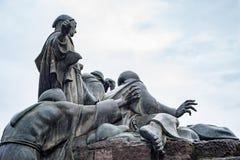 Estátua de San Francesco em Roma imagens de stock royalty free
