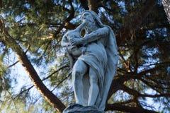 Estátua de Saturn que devora uma criança imagem de stock royalty free