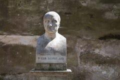 Estátua de Scipio Africanus em Roma, Itália imagens de stock