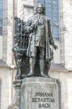 Estátua de Sebastian Bach em Leipzig, Alemanha imagem de stock royalty free