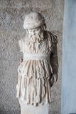 Estátua de Silenus Deus grego da embriaguez & da Vinho-fatura Imagens de Stock Royalty Free