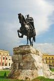 Estátua de Skanderberg Imagem de Stock Royalty Free