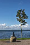 Estátua de Solbad na praia Foto de Stock