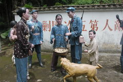 A estátua de soldados revolucionários da boa vinda dos povos no ¼ Œshenzhen de Parkï do exército vermelho, porcelana Fotos de Stock Royalty Free