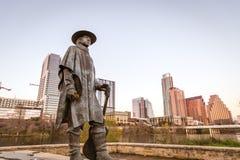 Estátua de Stevie Ray Vaughan Fotografia de Stock Royalty Free