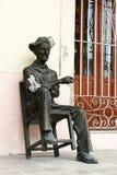 Estátua de um homem cubano idoso Imagens de Stock Royalty Free