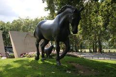 Estátua de um stalion em Londres imagens de stock