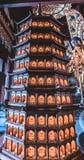 Estátua de um templo chinês tradicional fotos de stock royalty free
