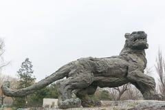 Estátua de um tigre Fotografia de Stock