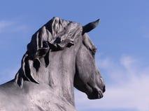 Estátua de uma cabeça de cavalos Imagem de Stock Royalty Free