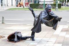 Estátua De Vaartkapoen em Bruxelas fotos de stock royalty free