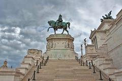 Estátua de Vittorio Emanuele em Roma, Italy. Imagens de Stock Royalty Free