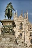 Estátua de Vittorio Emanuele II imagens de stock