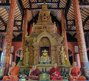 Estátua de Wat Phra Singh - de Dragon Naga Foto de Stock Royalty Free