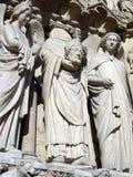 Estátua decapitado de Notre Dame Imagens de Stock