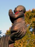 Estátua-detalhe de Buddha imagem de stock