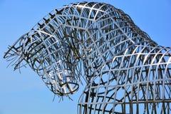 Estátua do aço do cavalo Imagem de Stock Royalty Free