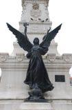 Estátua do anjo com cruz (Portugal) Fotografia de Stock