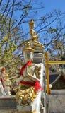 Estátua do anjo em Wat Phraputthabat Si Roi, Buddhisimt, Chiang Mai, Tailândia Fotos de Stock