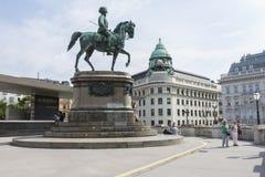 Estátua do arquiduque Albrecht imagens de stock royalty free