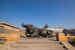 Estátua do búfalo Fotos de Stock