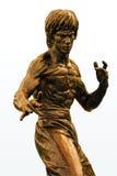 Estátua do bronze de Bruce Lee fotografia de stock
