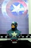 Estátua do capitão América Fotografia de Stock