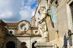 A estátua do castelo do anjo do St Fotos de Stock Royalty Free