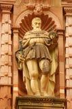Estátua do cavaleiro do castelo de Heidelberg imagens de stock