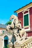Estátua do cavaleiro do cavalo Fotos de Stock Royalty Free