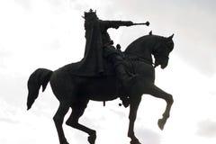 Estátua do cavaleiro do cavalo Fotografia de Stock