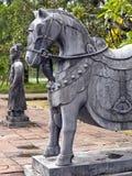 Estátua do cavalo em túmulos de Minh Mang Foto de Stock