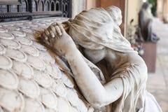 Estátua do cemitério Fotografia de Stock
