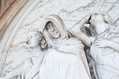 Estátua do cemitério Foto de Stock Royalty Free