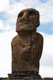 Estátua do console de Easter - Ahu Tongariki Imagem de Stock