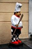 Estátua do cozinheiro chefe Foto de Stock