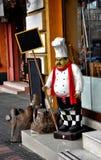 Estátua do cozinheiro chefe Imagens de Stock Royalty Free