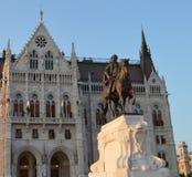 Estátua do ¡ de Gyula Andrà ssy Imagens de Stock Royalty Free