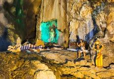 A estátua do deus em Batu cava, Kuala Lumpur, Malásia foto de stock royalty free