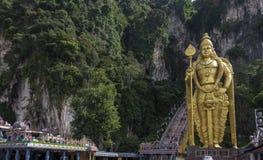A estátua do deus hindu Muragan em Batu cava, Kuala Lumpur fotografia de stock
