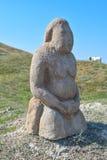 A estátua do deus pagão Ídolo de pedra Imagens de Stock Royalty Free