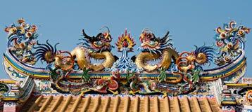 Estátua do dragão Fotos de Stock Royalty Free